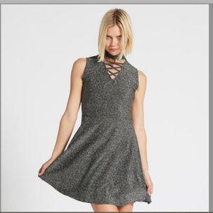 Women's Adam Levine M SIlver/Black Metallic Dress